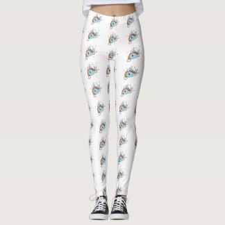 Narwhals e arcos-íris leggings