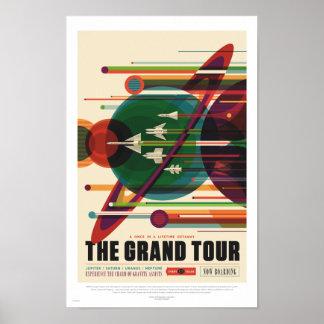 NASA - A excursão grande - poster de viagens retro