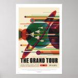 NASA - A excursão grande - poster de viagens retro Pôster