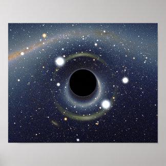 NASA do anel de Einstein do buraco negro Pôster