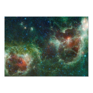 NASA infravermelha do mosaico das nebulosa do Convites Personalizado