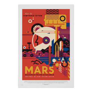 NASA - Poster de viagens retro da excursão de