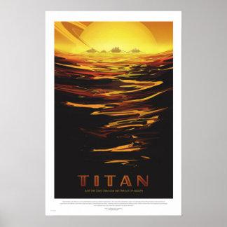 NASA - Poster de viagens retro da excursão do titã