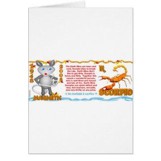 Nascer 1948 da Escorpião do rato da terra do Cartão Comemorativo