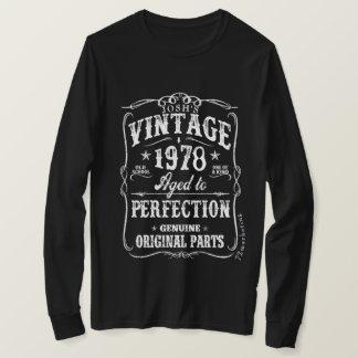 Nascer 1978 do Tshirt do aniversário 40 da camisa