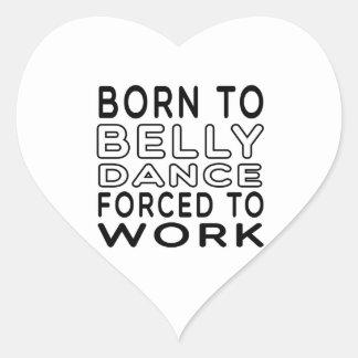 Nascer à dança do ventre forçada para trabalhar adesivo coração
