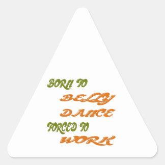 Nascer à dança do ventre forçada para trabalhar adesivo triangular