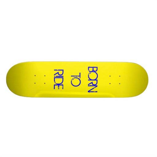 Nascer a montar skateboard