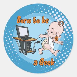 Nascer a ser um geek adesivo
