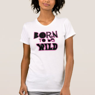 Nascer a ser zebra selvagem do rosa do ~ do tshirts