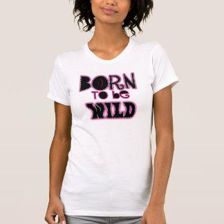 Nascer a ser zebra selvagem do rosa do ~ do camisetas