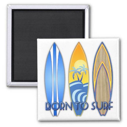 Nascer a surfar ima de geladeira