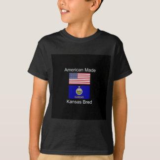 """""""Nascer americano. Kansas produziu"""" bandeiras e Camiseta"""