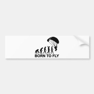 Nascer de Skydiving da evolução a voar Adesivos