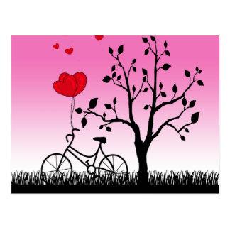 Nascer do sol cor-de-rosa cartão postal