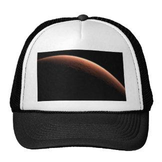 Nascer do sol crescente em Marte o planeta vermelh Boné