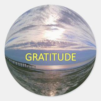 Nascer do sol da gratitude adesivo