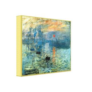 Nascer do sol da impressão por Claude Monet