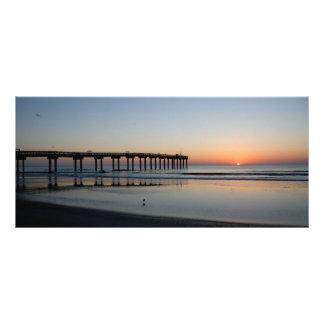 Nascer do sol da praia de Florida 10.16 X 22.86cm Panfleto