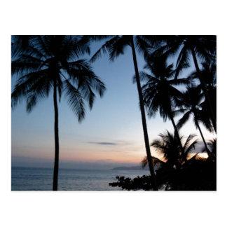 Nascer do sol de Costa Rica Cartão Postal