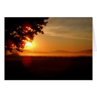 Nascer do sol de Kentucky Cartão Comemorativo