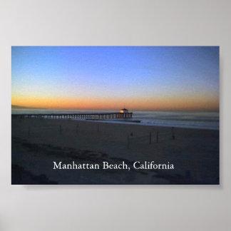 Nascer do sol de Manhattan Beach Pôster