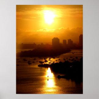 Nascer do sol de Miami Posteres