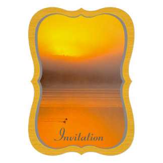 Nascer do sol de Ombre que brilha na foto da Convites Personalizado