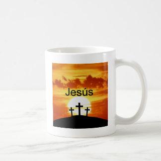 Nascer do sol do calvário de Jesús do espanhol Caneca