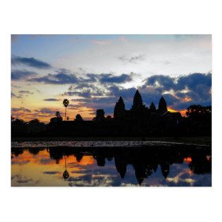 Nascer do sol em Angkor Wat, Cambodia - cartão
