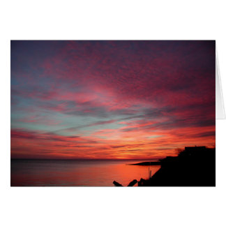 Nascer do sol em Hampton do leste Cartão Comemorativo