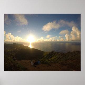 Nascer do sol havaiano impressão