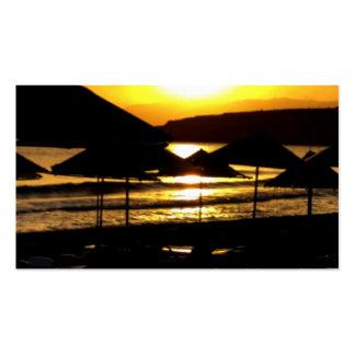 Nascer do sol na piscina cartões de visitas
