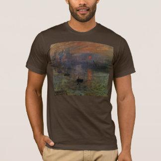 Nascer do sol por Claude Monet, arte da impressão Camiseta