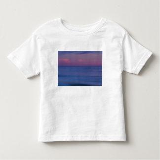 nascer do sol Roxo-colorido na costa 2 do oceano Camiseta