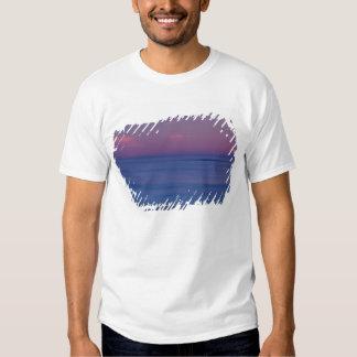 nascer do sol Roxo-colorido na costa 2 do oceano Tshirts
