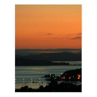 Nascer do sol sobre Auckland Cartão Postal