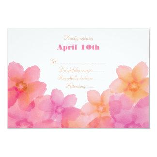 Nascer do sol tropical RSVP Wedding floral Convite 8.89 X 12.7cm