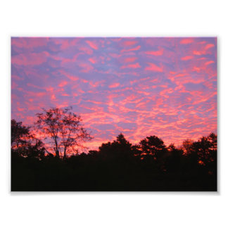 Nascer do sol Vibrantly cor-de-rosa Impressão De Foto