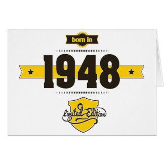 nascer em 1948 (choco&yellow) cartão comemorativo