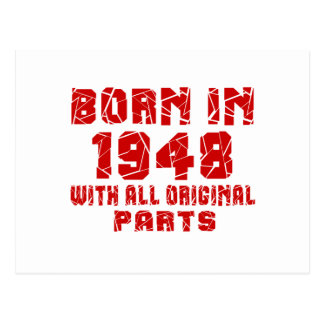 Nascer em 1948 com todas as peças originais cartão postal