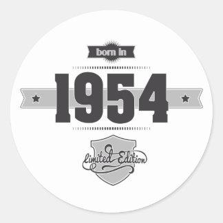 Nascer em 1954 (Dark&Lightgrey) Adesivo