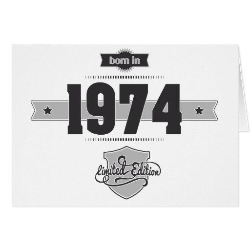 Nascer em 1974 (Dark&Lightgrey) Cartao