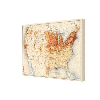 Nascer estrangeiro da densidade 61 impressão de canvas esticadas