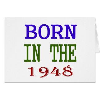 Nascer no 1948 cartão comemorativo