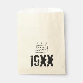 Nascer no aniversário 19xx sacolinha