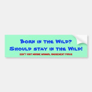 Nascer no selvagem? Deve permanecer no selvagem! Adesivo Para Carro