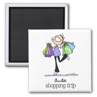 Nascer para comprar - a viagem da compra de Anita Ímã Quadrado