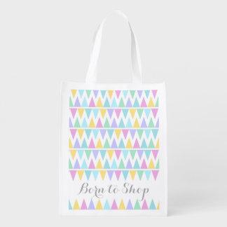 Nascer para comprar o saco colorido modelado da sacolas ecológicas para supermercado