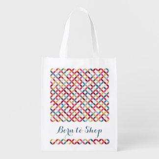 Nascer para comprar o saco colorido modelado sacolas reusáveis